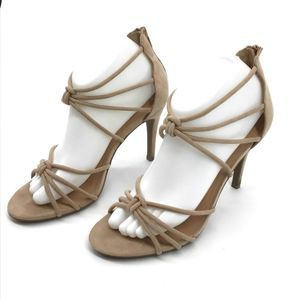 A New Day tan Nude rope strap stiletto 8.5